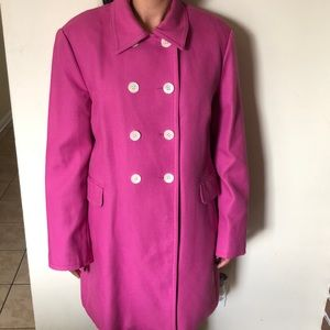 ANN TAYLOR women coat pink color size xl